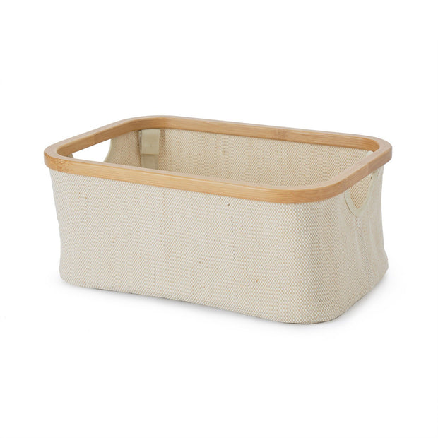Champa storage, natural & brown, 57% linen & 43% cotton | URBANARA storage baskets