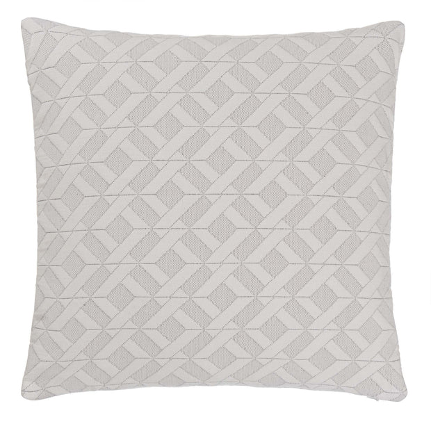 Aldeia cushion cover, light cream & black, 100% cotton