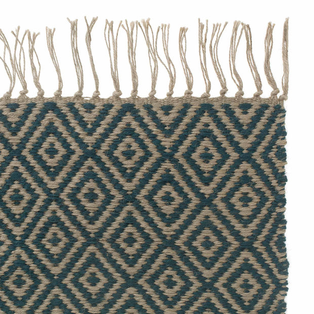 Dasheri rug, teal, 100% jute