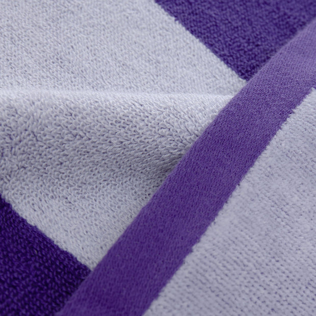Serena beach towel, purple & white, 100% cotton |High quality homewares