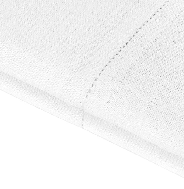 Cavaillon table cloth, white, 100% linen | URBANARA tablecloths