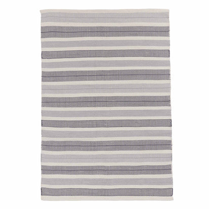 Vandani Rug in off-white & grey & dark grey blue | Home & Living inspiration | URBANARA