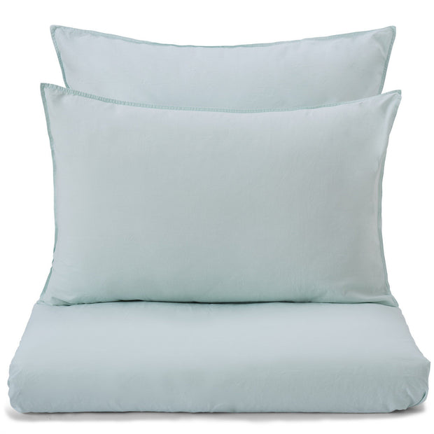 Luz duvet cover, mint, 100% cotton