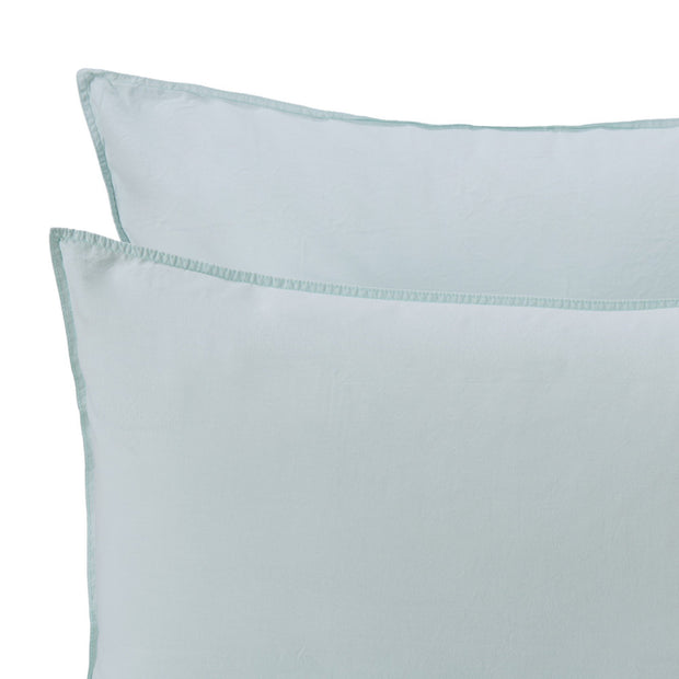 Luz duvet cover, mint, 100% cotton | URBANARA cotton bedding