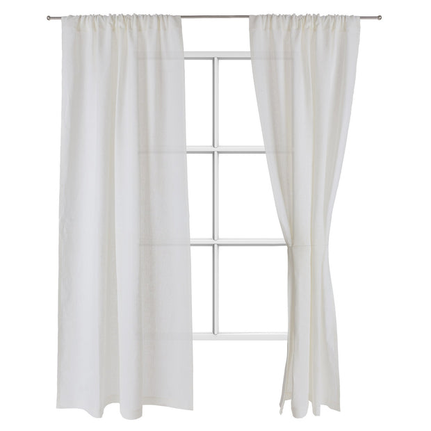 Fana curtain, natural white, 100% linen