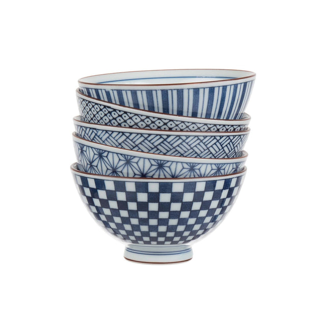 Onuma bowl, white & blue, 100% ceramic |High quality homewares