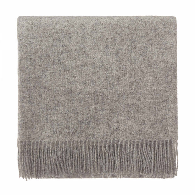 Miramar blanket, light grey, 100% lambswool