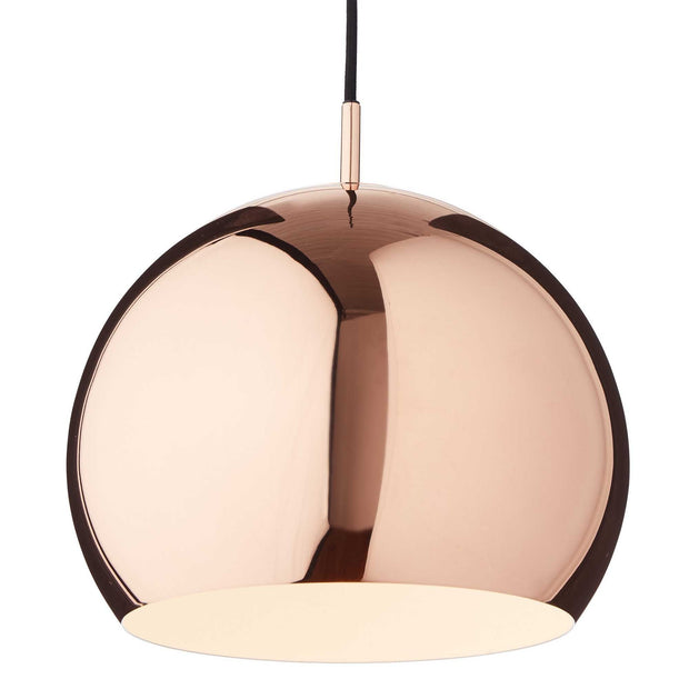 Koge pendant lamp, copper & black, 100% stainless steel | URBANARA pendant lamps