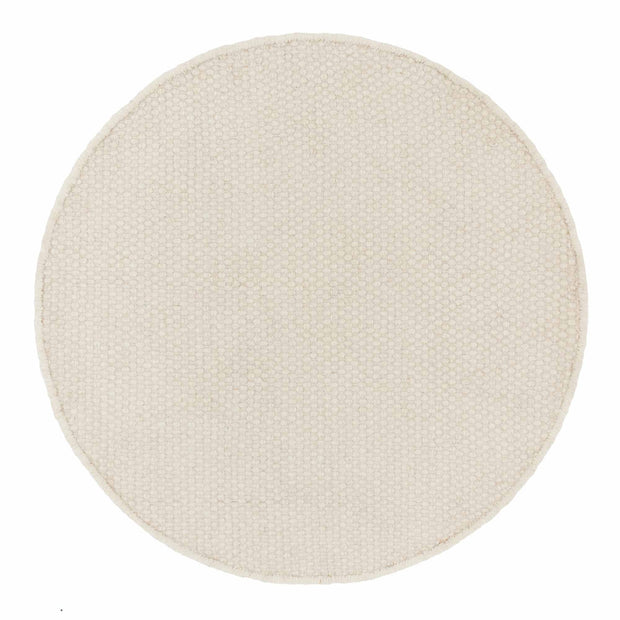 Kolong rug, off-white, 100% new wool | URBANARA wool rugs