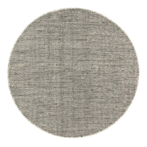 Kolong rug, off-white & black, 100% new wool |High quality homewares