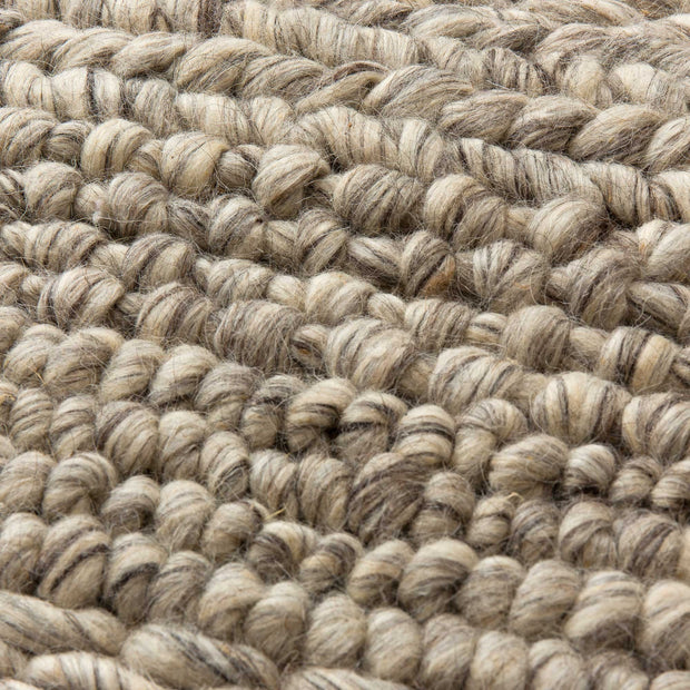 Kalgi Rug off-white & grey & light brown, 100% wool felt | High quality homewares