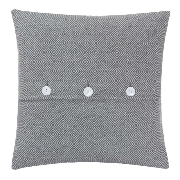 Uyuni cushion cover, charcoal & cream, 100% cashmere wool | URBANARA cushion covers