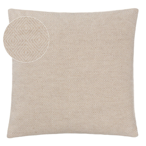 Uyuni cushion cover, beige & cream, 100% cashmere wool