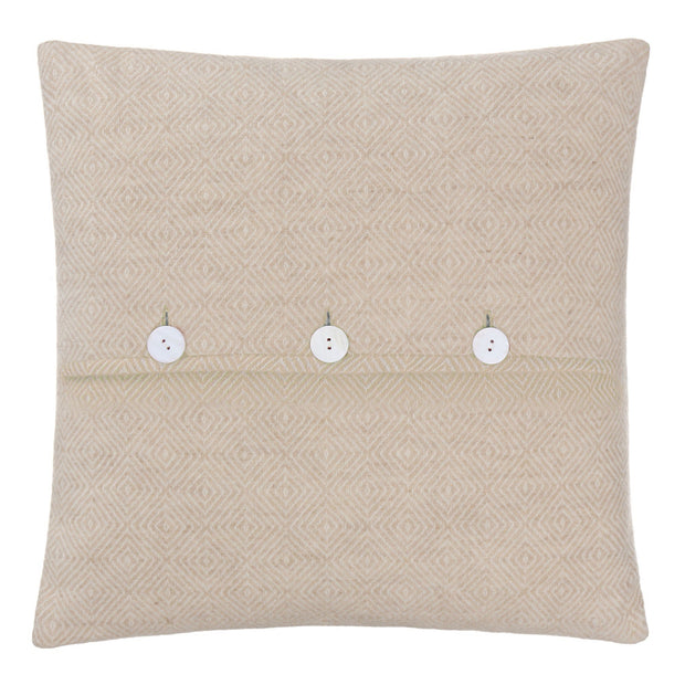 Uyuni cushion cover, beige & cream, 100% cashmere wool |High quality homewares