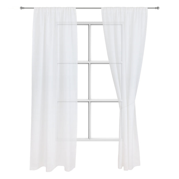 Fana curtain, white, 100% linen