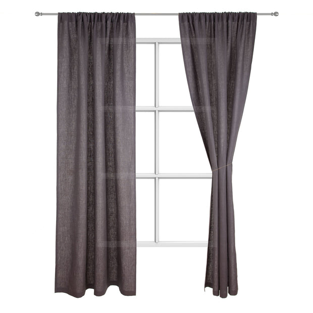Fana curtain, charcoal, 100% linen