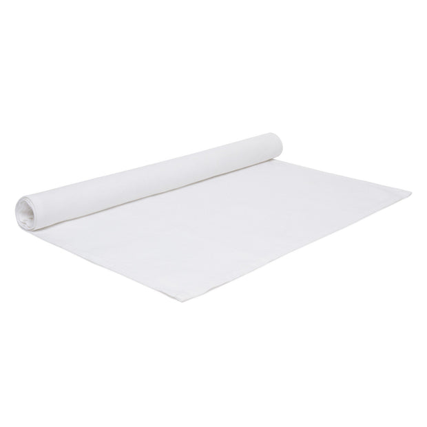 Teis table runner, white, 100% linen