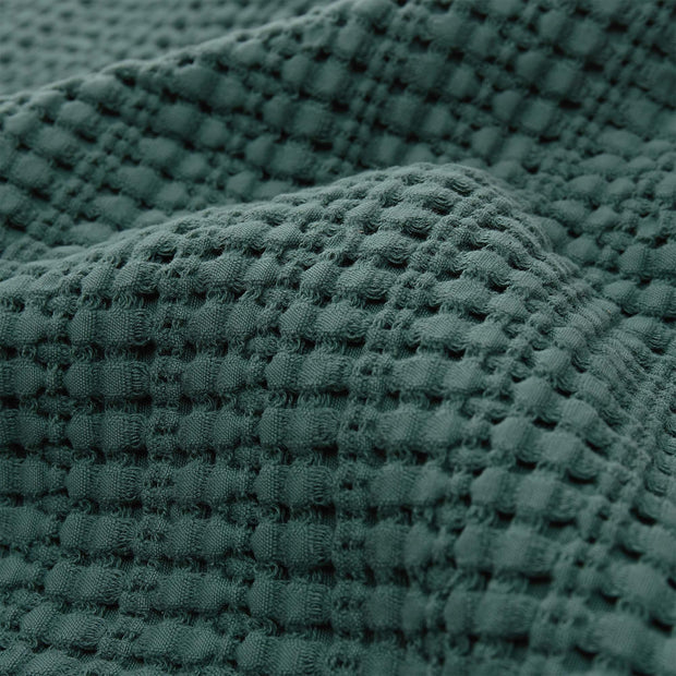 Anadia bedspread, green, 100% cotton |High quality homewares