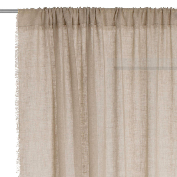 Kiruna curtain, natural, 100% linen | URBANARA curtains