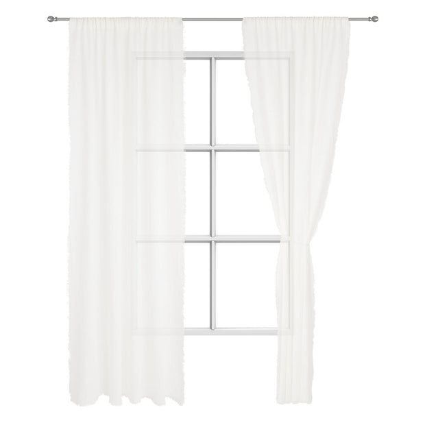 Kiruna curtain, white, 100% linen