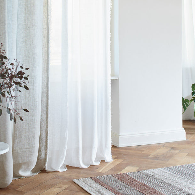 White Kiruna Vorhang | Home & Living inspiration | URBANARA