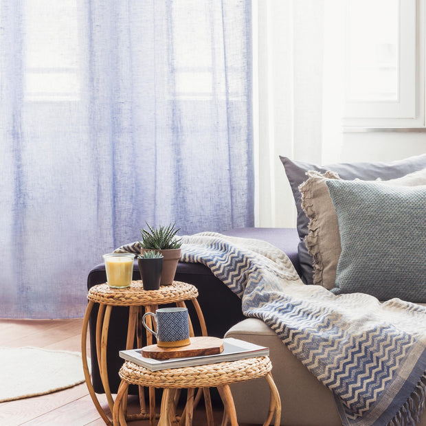 Blue grey Kiruna Vorhang | Home & Living inspiration | URBANARA