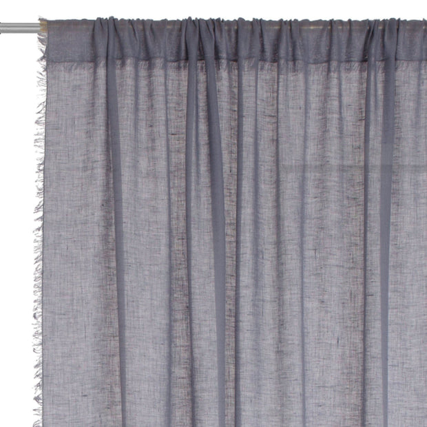 Kiruna curtain, blue grey, 100% linen | URBANARA curtains