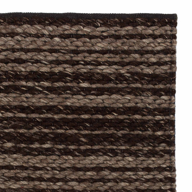 Romo rug, light brown & brown, 50% wool & 50% cotton