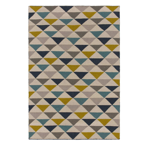 Barli rug in olive green, 50% new wool & 50% cotton |Find the perfect wool rugs