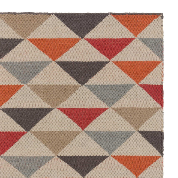 Barli rug, orange, 50% new wool & 50% cotton | URBANARA wool rugs