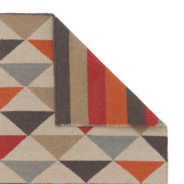 Barli rug, orange, 50% new wool & 50% cotton