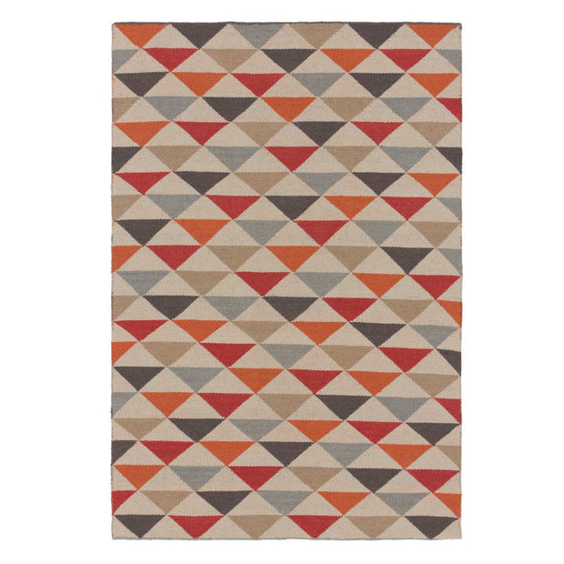 Barli rug, orange, 50% new wool & 50% cotton |High quality homewares