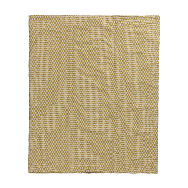 Saldanha Picnic Blanket mustard & natural & brown, 75% cotton & 25% linen | High quality homewares