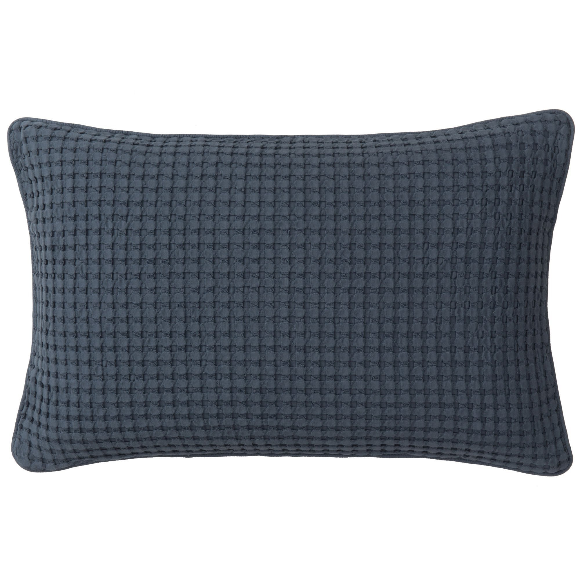 Veiros cushion cover, blue grey, 100% cotton