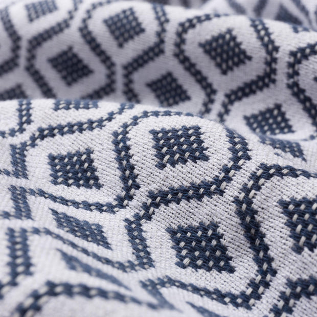Viana bedspread, blue grey & white, 100% cotton | URBANARA bedspreads & quilts