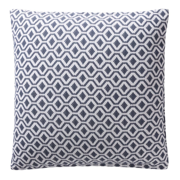 Viana bedspread, blue grey & white, 100% cotton |High quality homewares