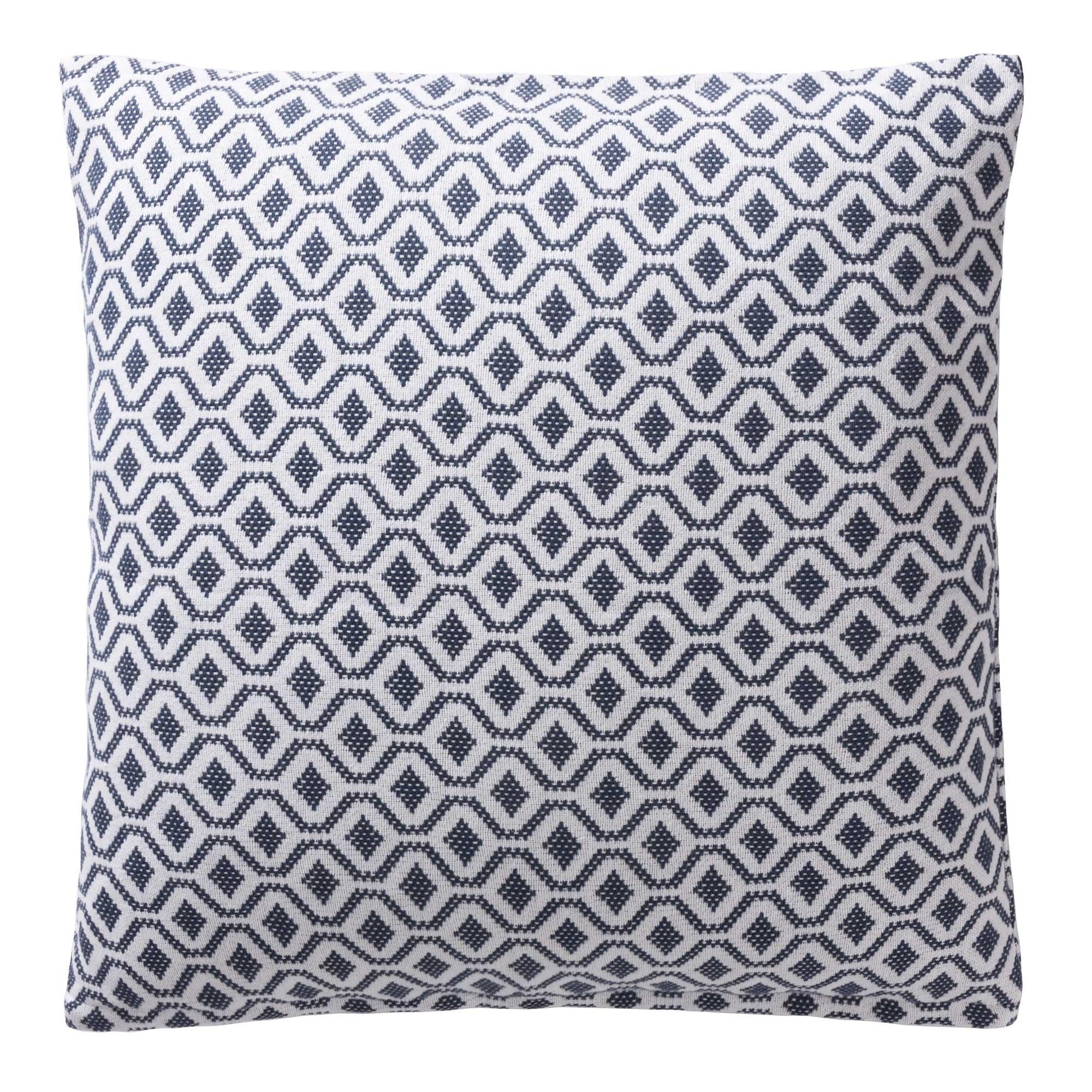 Viana Cushion [Blue grey/White]