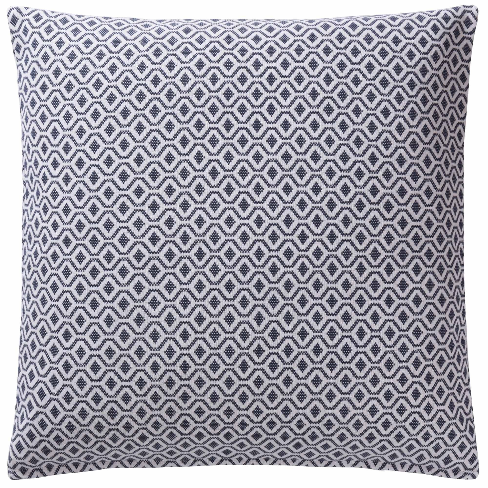 Viana cushion cover, blue grey & white, 100% cotton