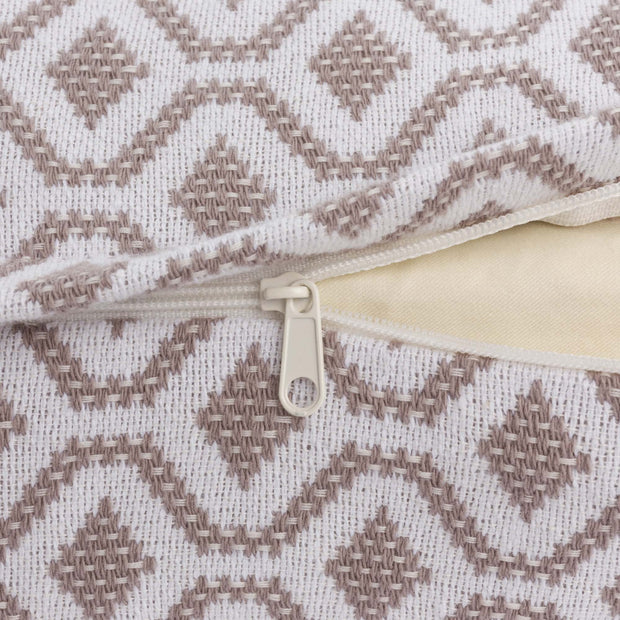 Viana cushion cover in natural & white, 100% cotton |Find the perfect cushion covers