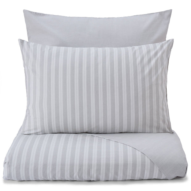 Izeda duvet cover, light grey & white, 100% cotton