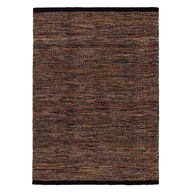 Odis rug, multicolour & black, 87% new wool & 9% cotton & 4% polyester | URBANARA wool rugs