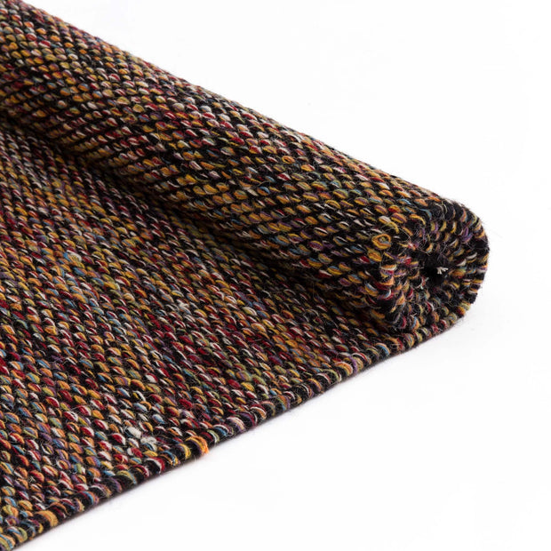 Odis rug, multicolour & black, 87% new wool & 9% cotton & 4% polyester |High quality homewares