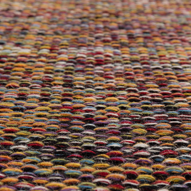 Odis rug in multicolour & black, 87% new wool & 9% cotton & 4% polyester |Find the perfect wool rugs