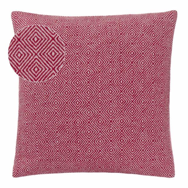 Uyuni blanket, bordeaux red & cream, 100% cashmere wool |High quality homewares