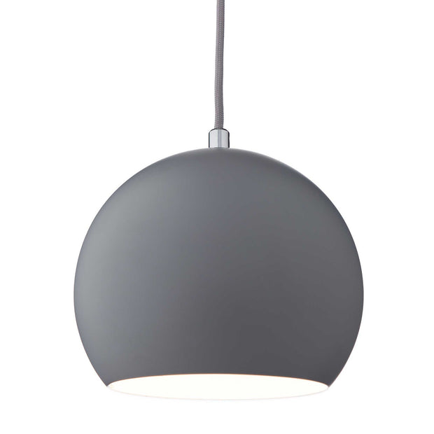 Koge pendant lamp, light grey, 100% stainless steel | URBANARA pendant lamps
