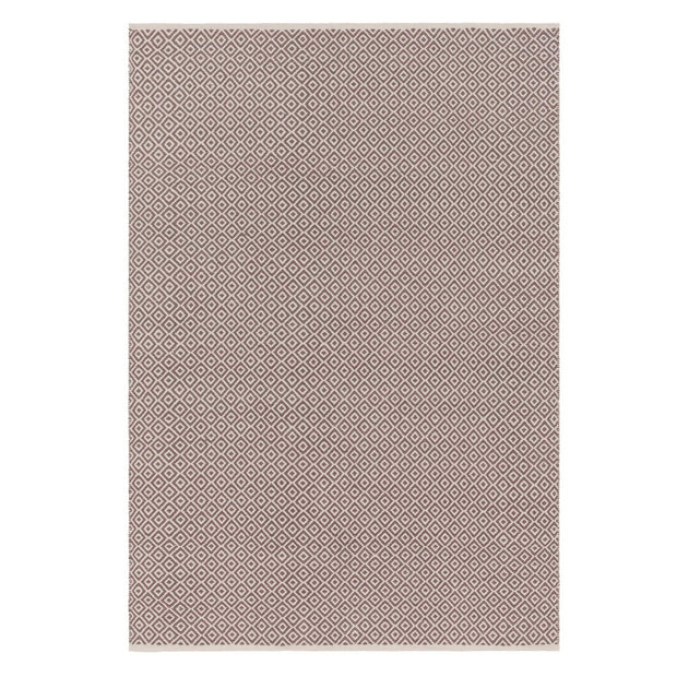 Tenali rug, grey & off-white, 100% cotton | URBANARA cotton rugs