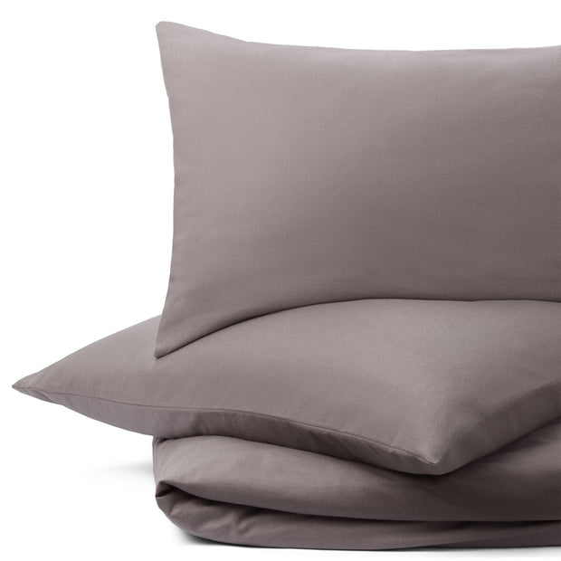 Montrose duvet cover, stone grey, 100% cotton