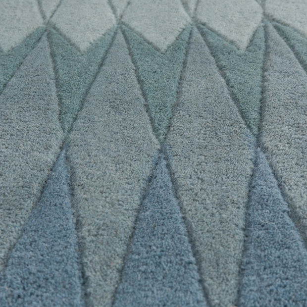 Karise rug in mint & turquoise & teal, 100% new wool |Find the perfect wool rugs