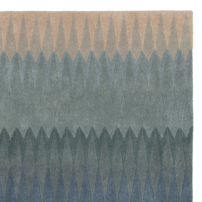 Karise rug, mint & turquoise & teal, 100% new wool