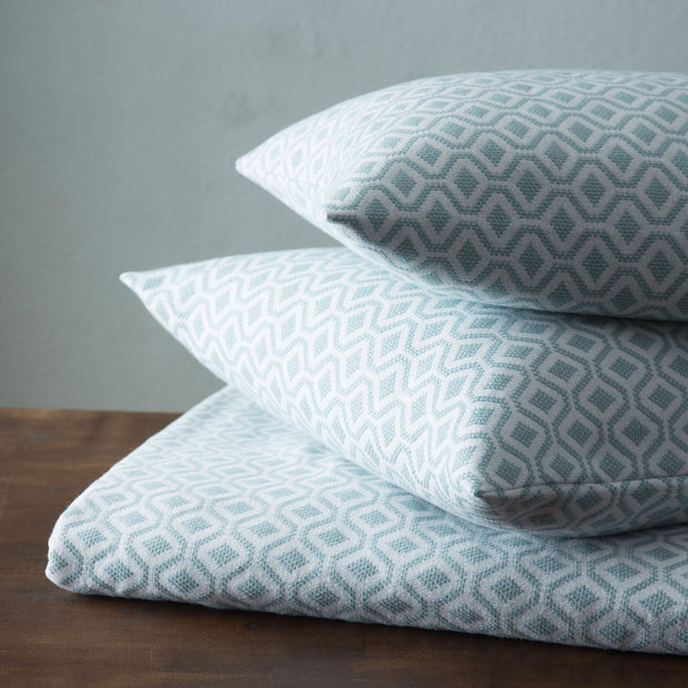 Viana bedspread in grey green & white, 100% cotton |Find the perfect bedspreads & quilts
